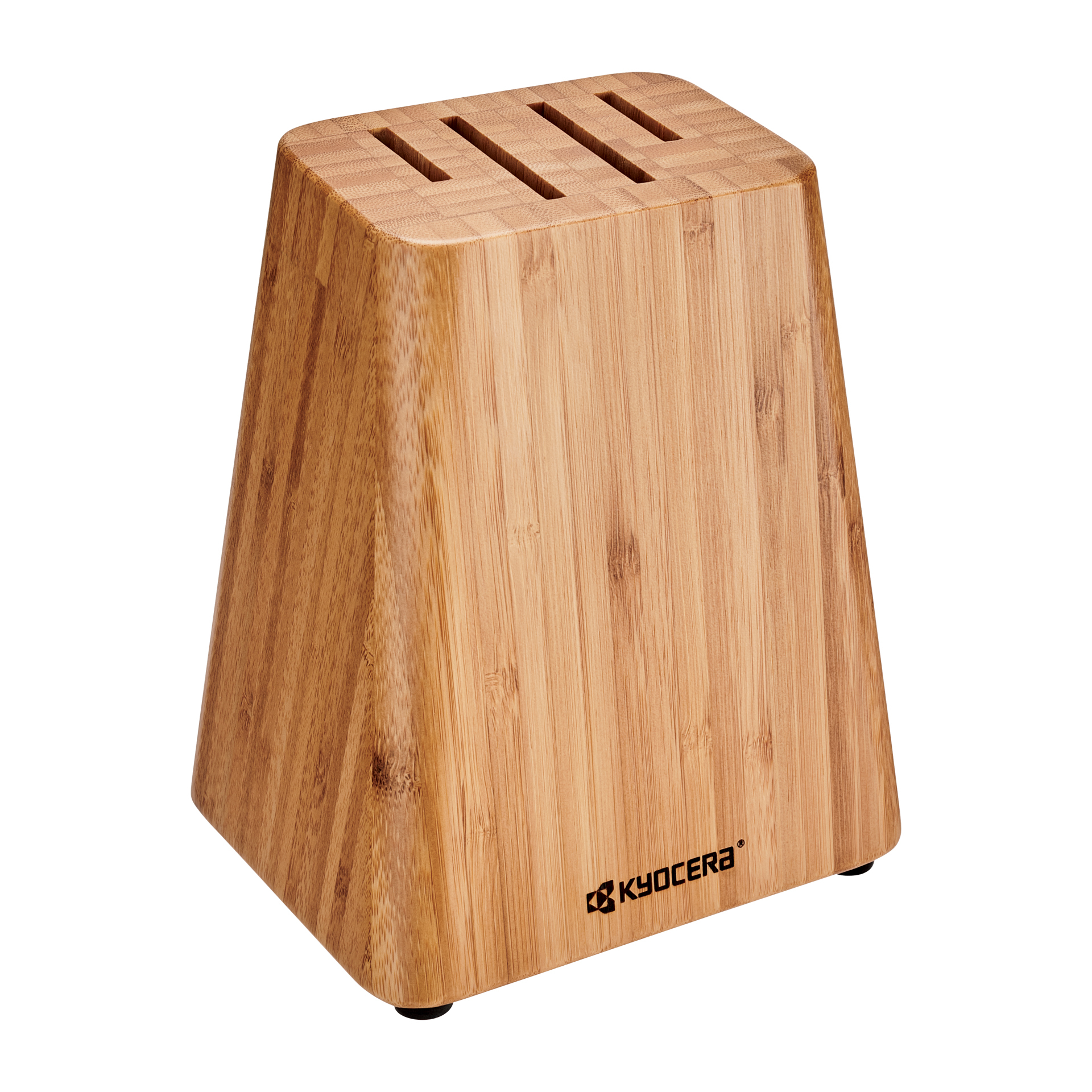Picture of 4-Slot Bamboo Knife Block Storage