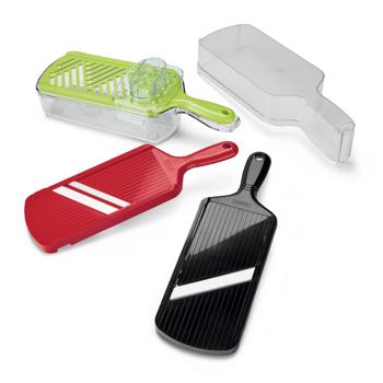 Picture of Multi-Slicer Set: Adjustable Mandoline Slicer, Julienne Slicer, Grater and Storage Container