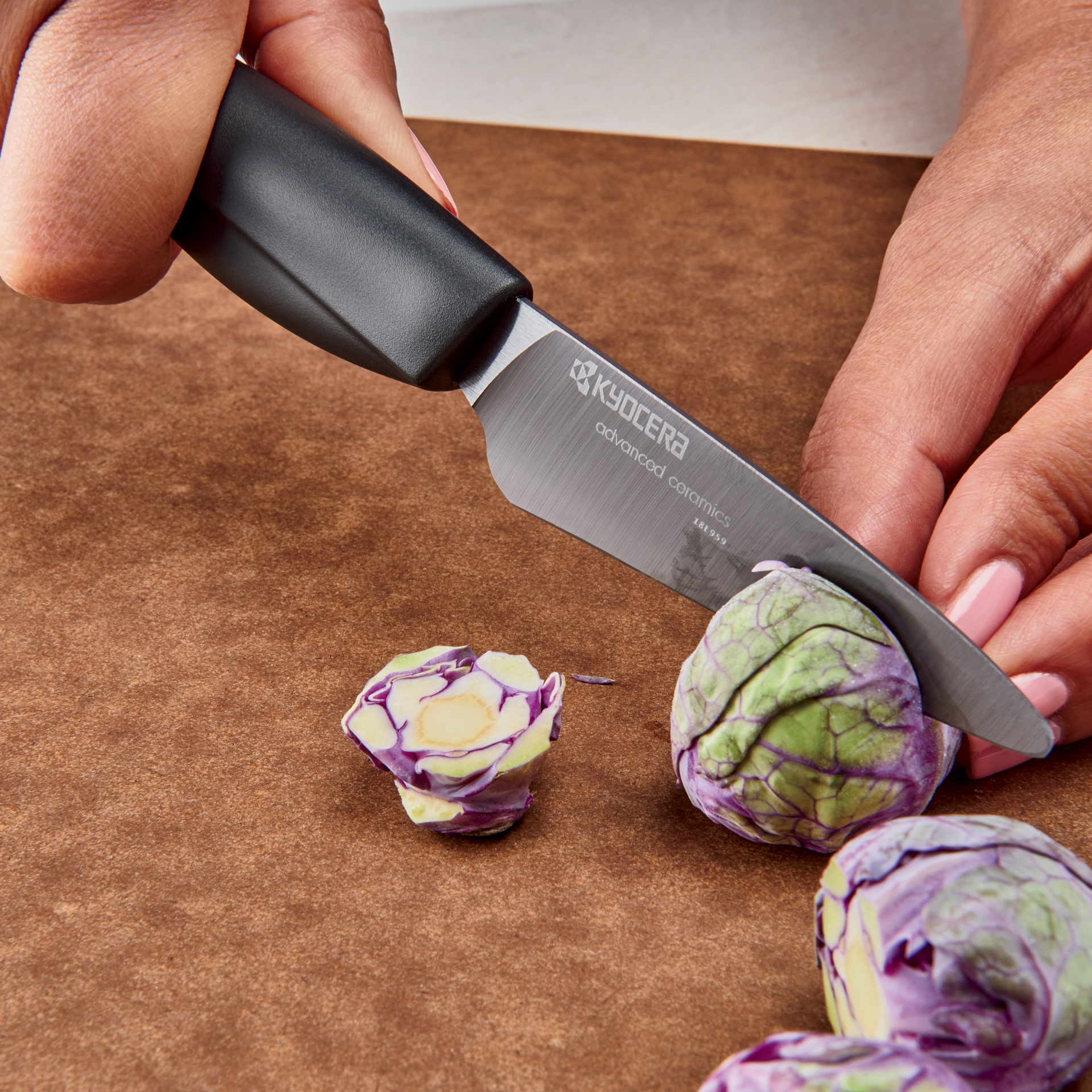 "Picture of Innovation Soft Grip 3"" Ceramic Paring Knife - Black Patented Blade"
