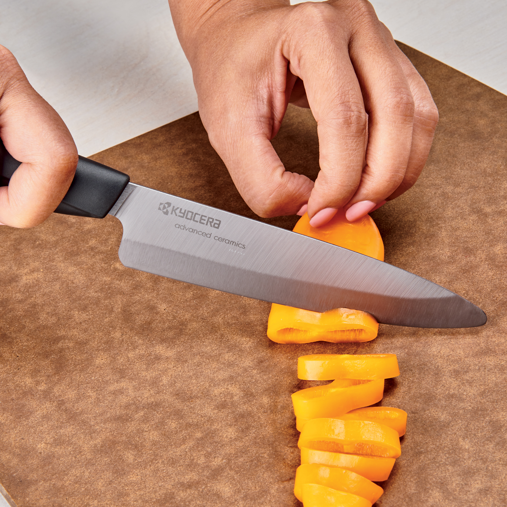"Picture of Innovation Soft Grip 5"" Ceramic Slicing Knife - Black Patented Blade"