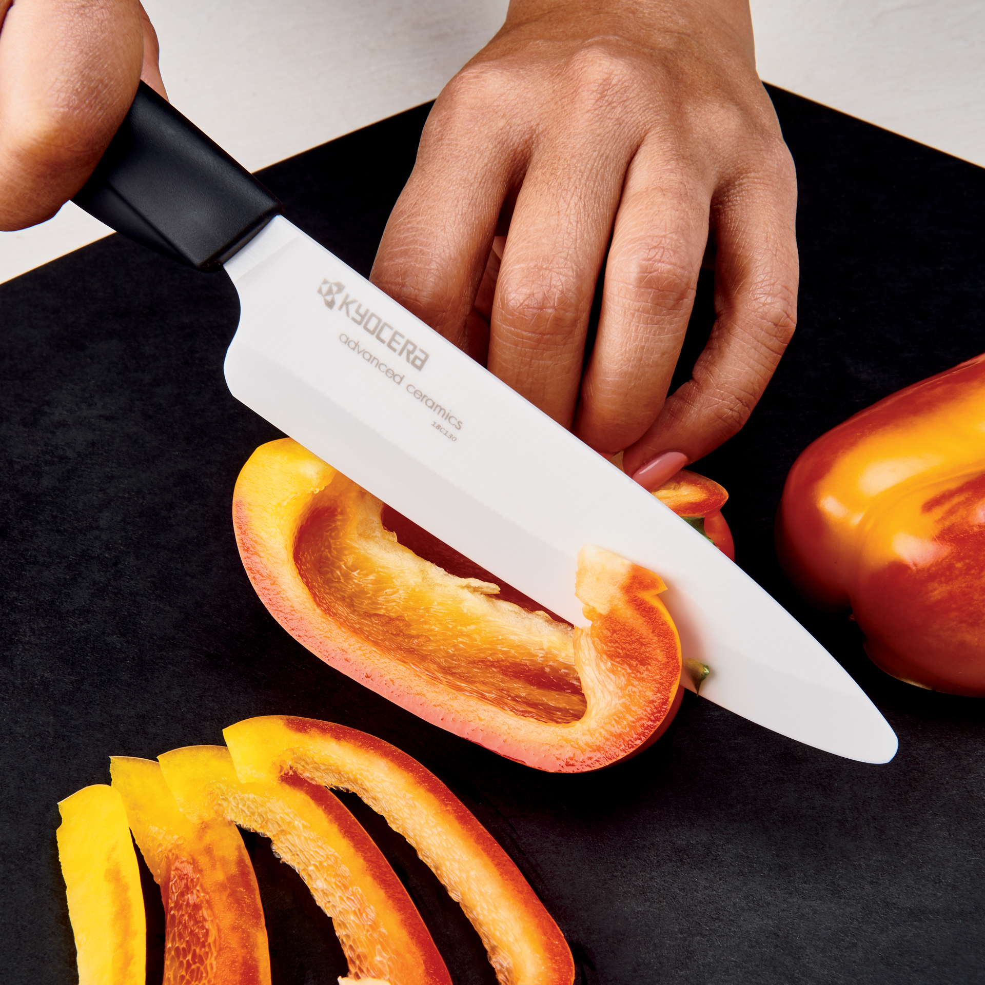 "Picture of Innovation Soft Grip 5"" Ceramic Slicing Knife - White Z206 Blade"