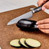 "Picture of Premier 4.5"" Ceramic Utility Knife - Etched HIP Blade with Riveted Wood Handle"