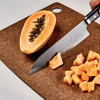 "Picture of Premier 7"" Ceramic Chef's Knife - Etched HIP Blade with Riveted Wood Handle"