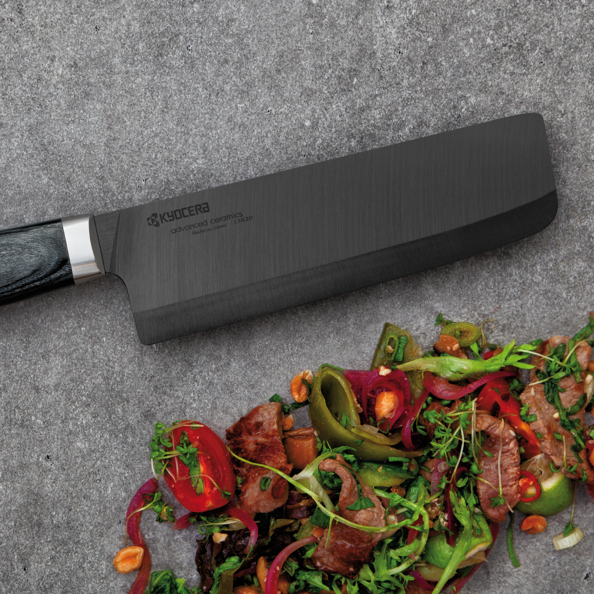 "Picture of Limited 6"" Nakiri Vegetable Cleaver - Hand-finished Blade with Hand-Crafted Riveted Wood Handle"