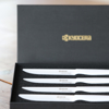 Picture of 4-Piece Micro-Serrated Ceramic Steak Knife Set - White