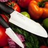 "Picture of Revolution 2 Piece Ceramic Knife Set - Black/White 5.5"" Santoku and 3"" Paring"