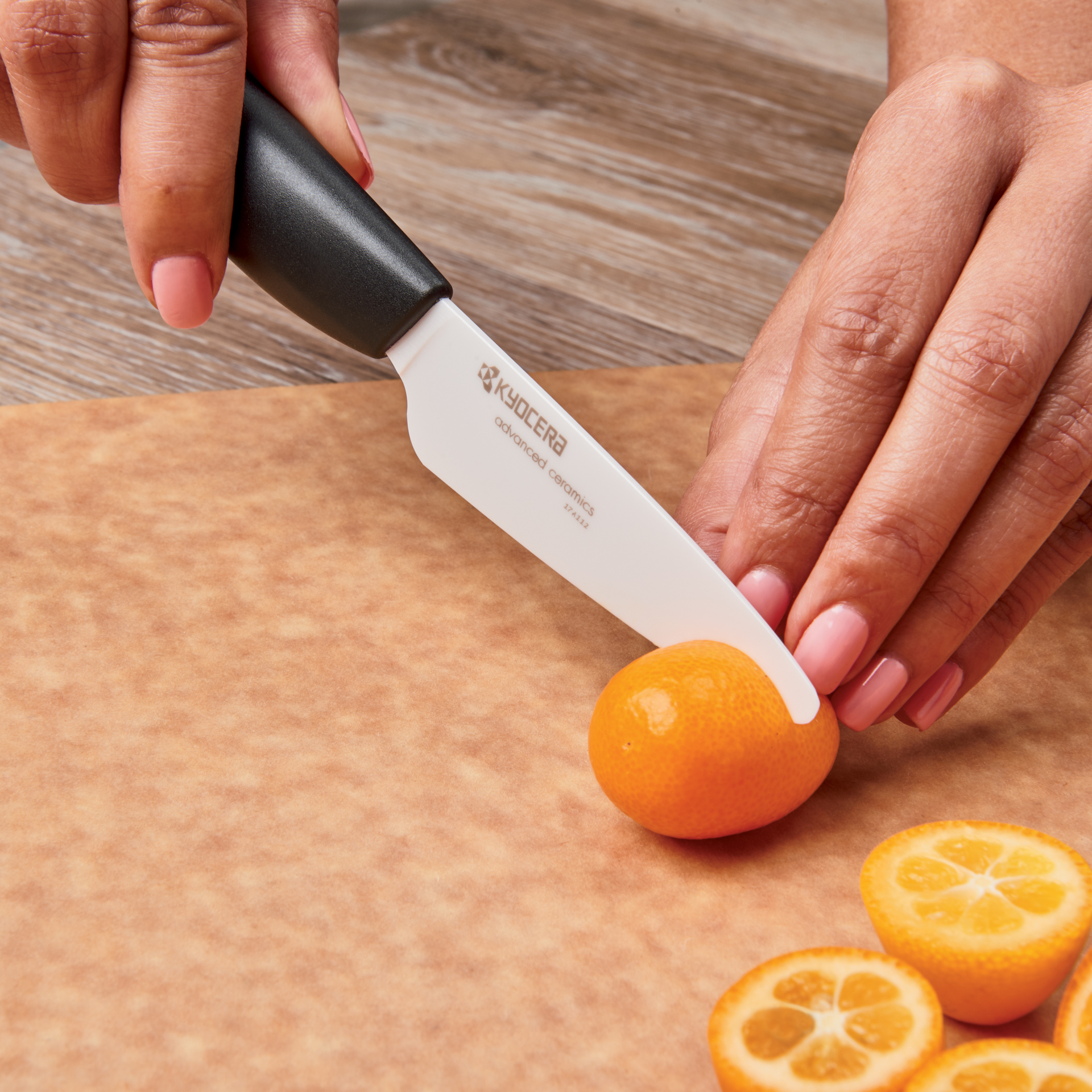 "Picture of 3"" Ceramic Paring Knife and Double Edge Ceramic Peeler"