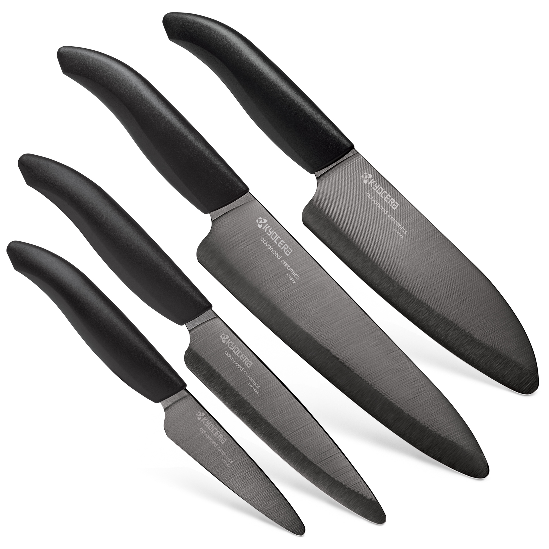 "Picture of Revolution 4 Piece Ceramic Knife Set - 7""Chef's, 5.5"" Santoku,4.5"" Utility and 3"" Paring"