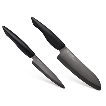 "Picture of Innovation Black 2 Piece Ceramic Knife Set - Black 6"" Chefs and 4.5"" Utility Knife"