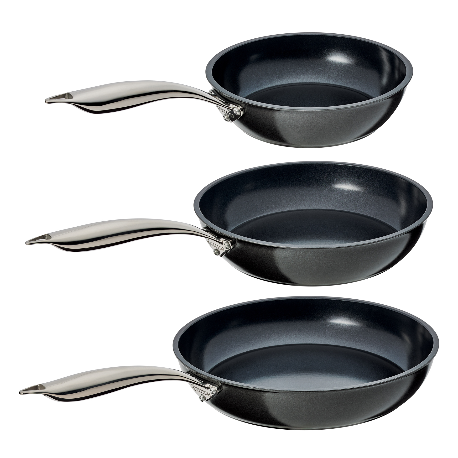 "Picture of 8"", 10"" and 12"" Ceramic Nonstick Fry Pans 3 Piece Set"