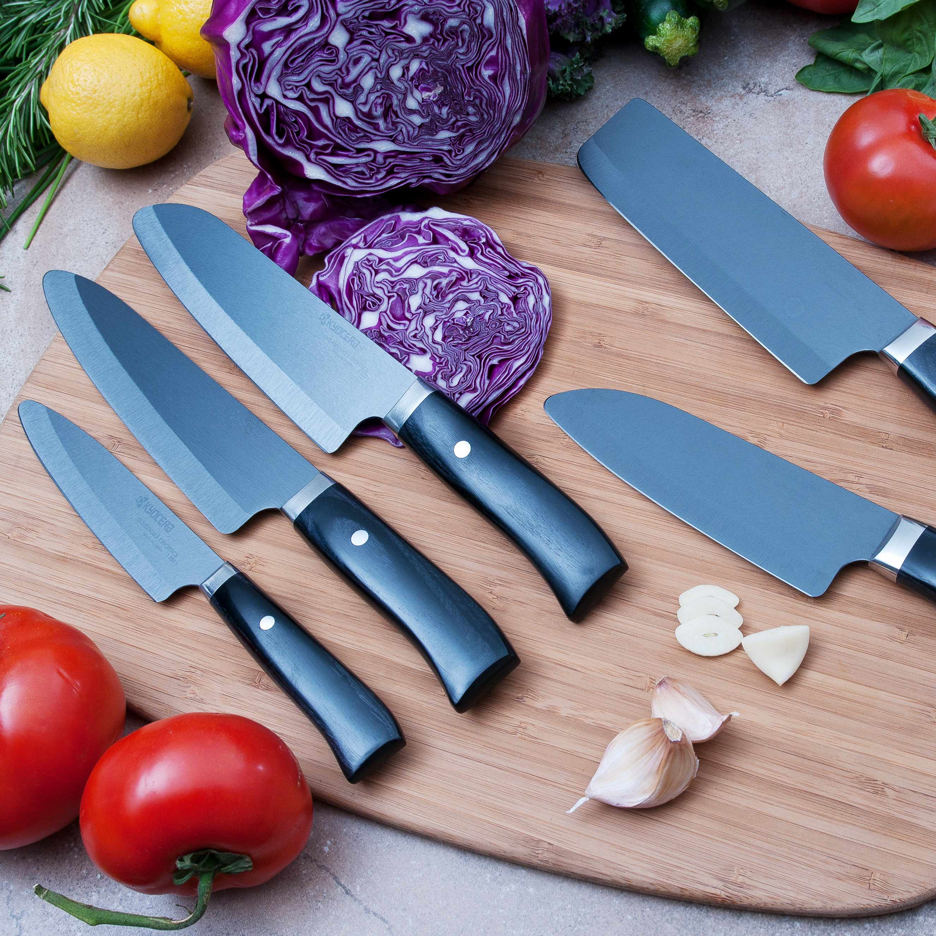 """Picture of Limited 7"""" Chef's Knife - Hand-finished Blade with Hand-Crafted Riveted Wood Handle"""