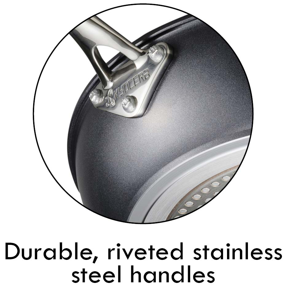 stainless steel riveted handle