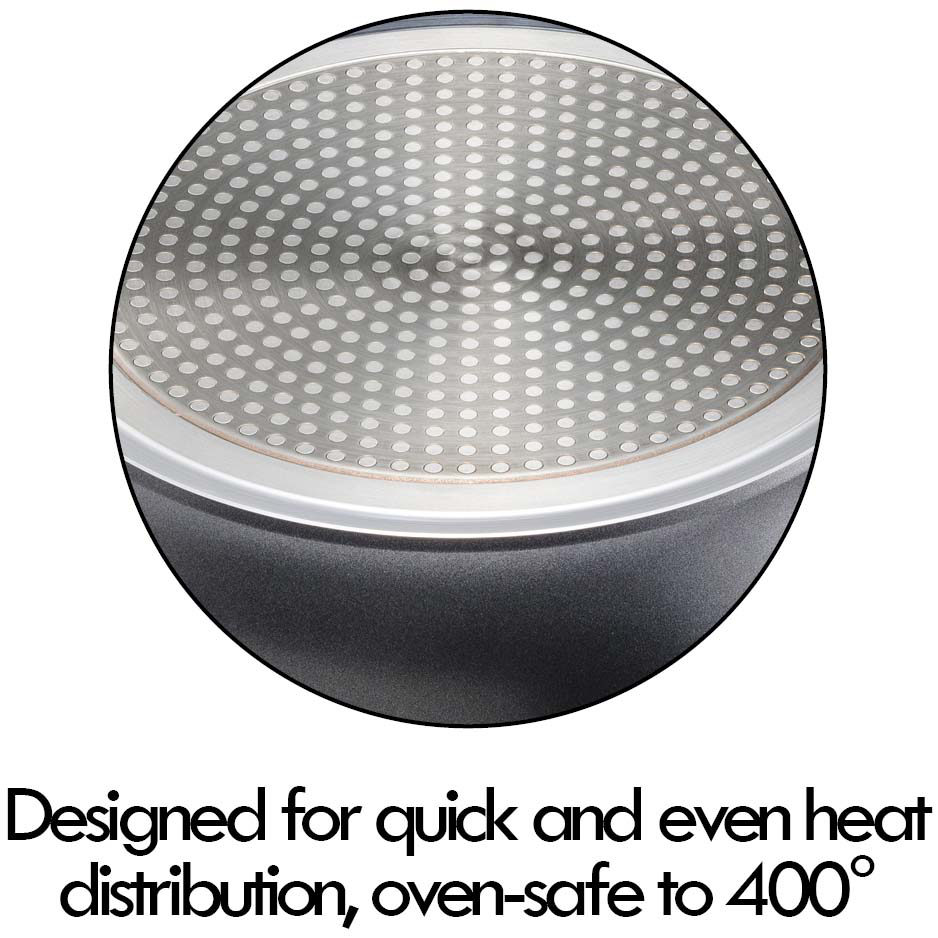 designed for quick, even heat distribution